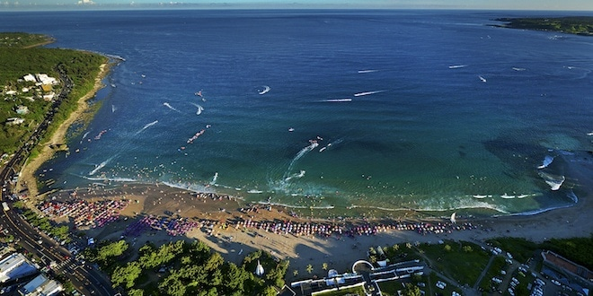 Aerial view of Henchun Taiwan coastline