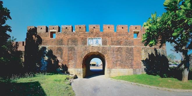 Historic wall in Hengchun Taiwan