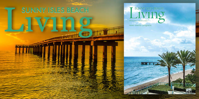 Cover of Sunny Isles Beach Living Magazine Winter 2020