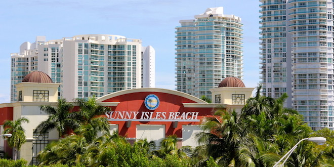 View of building with Sunny Isles Beach signage