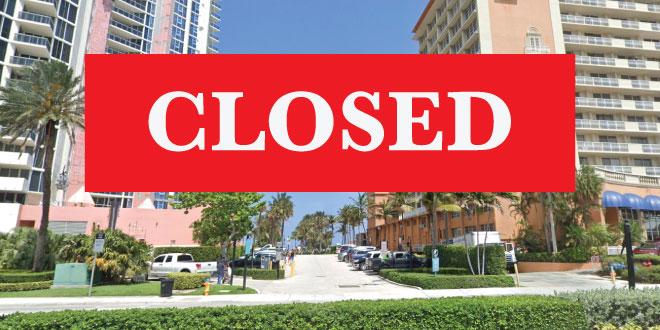 Ellen Wynne Beach Access closed