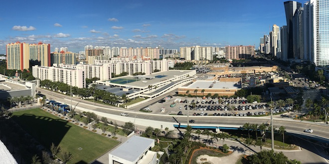 View of Town Center North area of Sunny Isles Beach