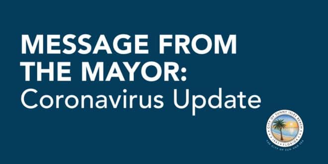 Message from the Mayor: Coronavirus Update