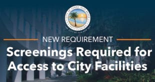 New Requirement: Screenings Required for Access to City Facilities