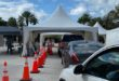 Drive through testing at Bal Harbour