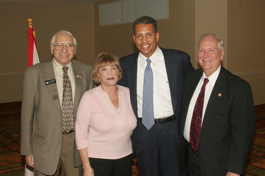 Senator Gwen Margolis with former City Commissioners Jerry Goodman and Normal Edelcup, and Darrell Jones