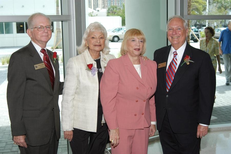 Senator Gwen Margolis with former Sunny Isles Beach City Commissioners