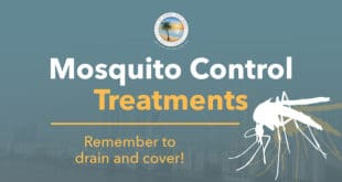 Mosquito Control Treatments. Remember to drain and cover.