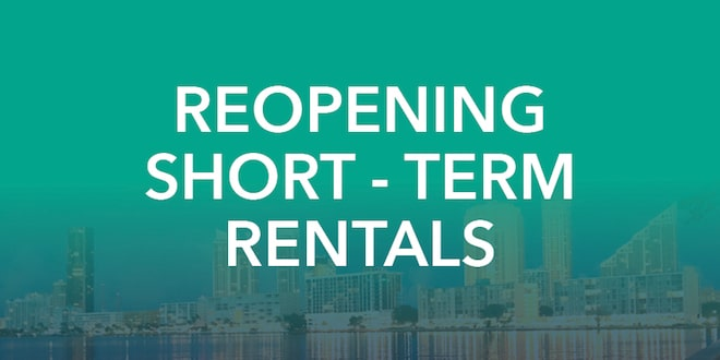 Reopening Short Term Vacation Rentals City Of Sunny Isles Beach