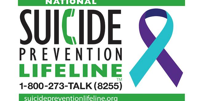 Suicide Prevention Lifeline 1-800-275-TALK