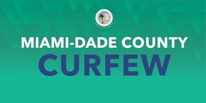 Miami-Dade County Curfew