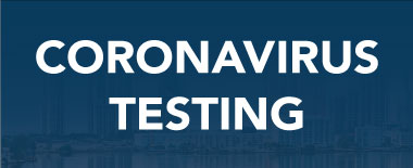 Coronavirus Testing Button