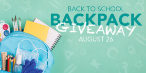 Back to School Backpack Giveaway. August 26