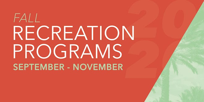 Fall 2020 Recreation Programs