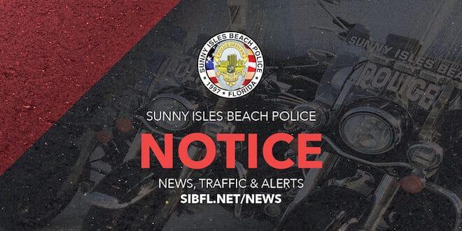 Sunny Isles Beach Police Notice