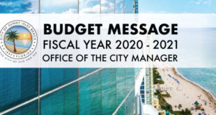 Budget Message Fiscal Year 2020-2021 Office of the City Manager