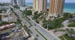 Aerial view of Collins Avenue