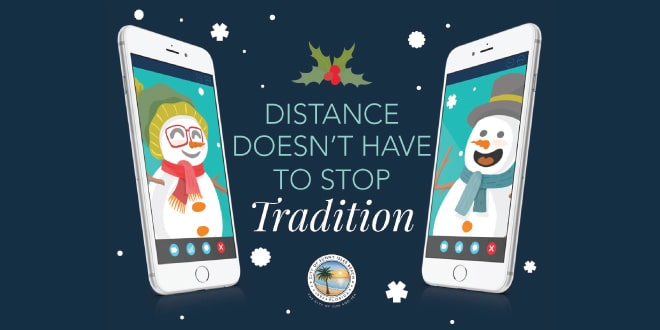 Distance doesn't have to stop tradition