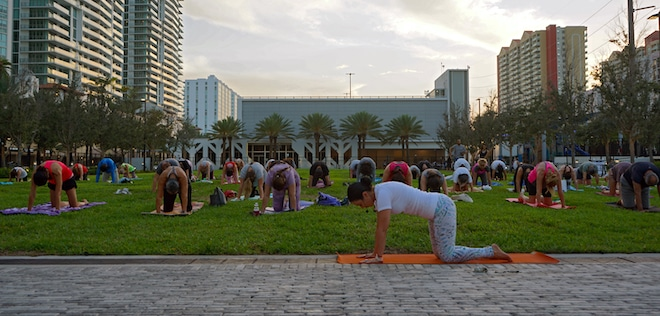 Yoga at Gateway Park