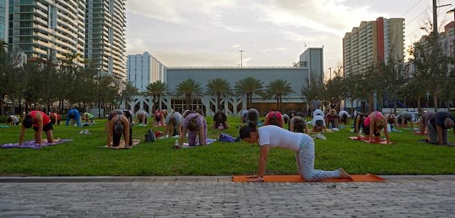 Yoga at Gateway Park