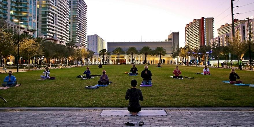 Full Moon Yoga at Gateway Park