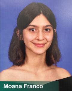 Moana Franco - 2021 College Scholarship winner