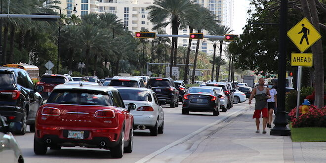Traffic on Collins Avenue