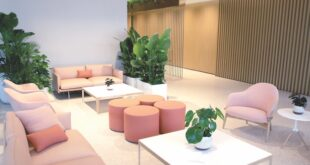 Seating area at Gateway Center