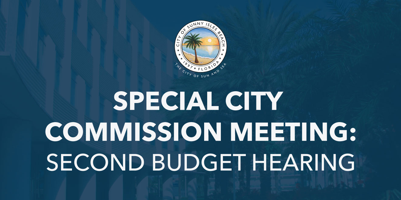 Special City Commission Meeting: Second Budget Hearing