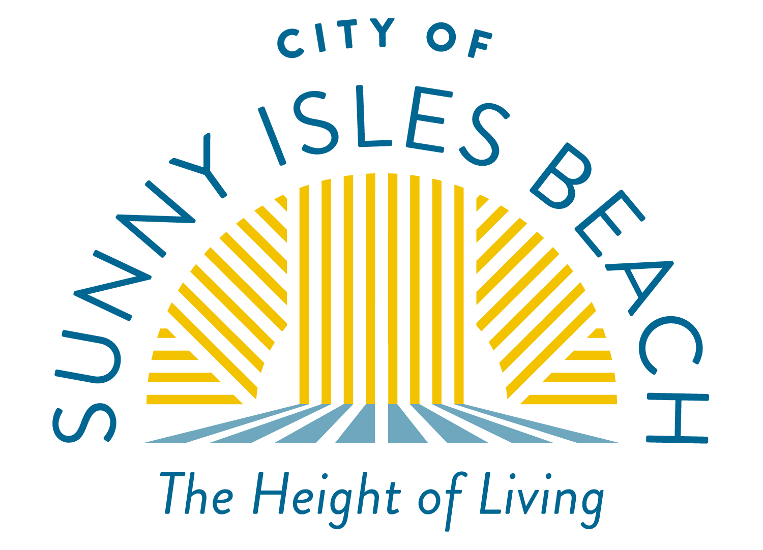 City of Sunny Isles Beach logo. Tagline: The Height of Living